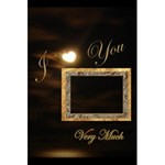 I Heart You Moon gold interior Love Personal Notebook - 5.5  x 8.5  Notebook