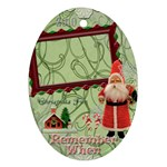 Santa Remember When oval Christmas Ornament - Ornament (Oval)