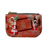 Stocking Stuffer Candy Cane My Little Angels Blonde Merry Christmas mini coin purse