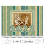2019 Summer Breeze 12 Month Calendar - Wall Calendar 11  x 8.5  (12-Months)
