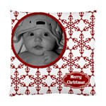 Cushion Case Christmas Snowflakes (2 sided) - Standard Cushion Case (Two Sides)