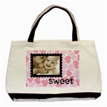 sweet smile pink hearts love classic tote - Basic Tote Bag (Two Sides)