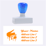 Piano Large Address Stamp - Rubber Stamp (Large)