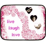 Live Laugh Love pink mini fleece - Fleece Blanket (Mini)