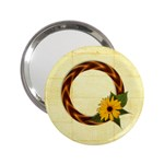 Daisy frame-pocket mirror - 2.25  Handbag Mirror