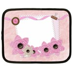 flower pink netbook case - Netbook Case (Large)