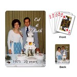Ed & Ruth 25 yrs. - Playing Cards Single Design
