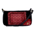Red daisy-clutch - Shoulder Clutch Bag