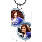 Blue circle frame - Dog Tag (One Side)