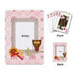 cute owl playing cards - Playing Cards Single Design