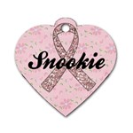 Breast Cancer Awareness-heart dog tag - Dog Tag Heart (Two Sides)