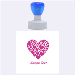 Love - Rubber Stamp Round (Large)