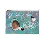 I heart you THIS MUCH Baby blue aqua2 Large Cosmetic Bag - Cosmetic Bag (Large)