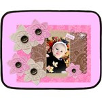pink flower blanket - Fleece Blanket (Mini)