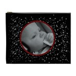 Black Glitter - red glitter frame - Cosmetic Bag (XL)