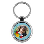 Key Chain (Round)  - Flowers1