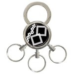 Black and white -  Key chain - 3-Ring Key Chain