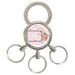 With love - pink - 3-Ring Key Chain