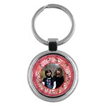 peppermint candy keychain - Key Chain (Round)