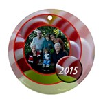 candy ribbon ornament - Ornament (Round)