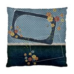 Flowers-blue pillow - Standard Cushion Case (Two Sides)