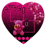 Cute - Puzzle - Jigsaw Puzzle (Heart)