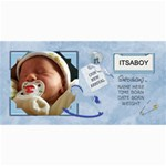 Baby Boy Announcement Cards - 4  x 8  Photo Cards