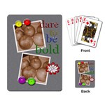 Rectangle Play Cards - Dare To Be Bold - Playing Cards Single Design