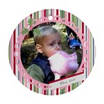 Chris : candy border - Ornament (Round)