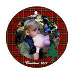 Chris plaid border - Ornament (Round)