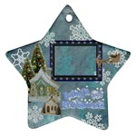 village blue Baby s 1st Christmas 2010 ornament 70 - Ornament (Star)