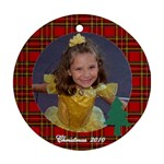 Sydney plaid border - Ornament (Round)