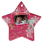 angel santa Baby s 1st Christmas pink 2010 ornament  130 - Ornament (Star)