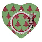 Here Comes Santa Ornament2 - Heart Ornament (Two Sides)