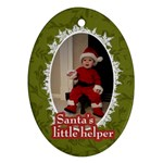 Santa s Little Helper Ornament - Ornament (Oval)
