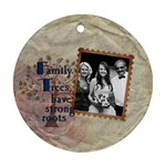 Family Trees 1-sided Round Ornament - Ornament (Round)