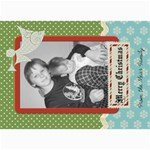 Merry Christmas Card with Angel - 5  x 7  Photo Cards