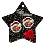 Flowers Christmas - Ornament - Ornament (Star)