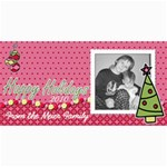 Happy Holiday card with tree - 4  x 8  Photo Cards