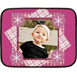 pink winter girl blanket - Fleece Blanket (Mini)