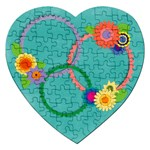 Fun flowers-puzzle - Jigsaw Puzzle (Heart)