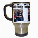 4 photo my family mug - Travel Mug (White)