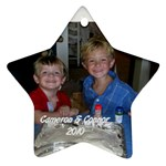 Cameron & Connor ornament - Star Ornament (Two Sides)