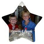 Cameron & Connor Ornament 2 - Ornament (Star)