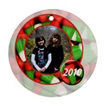 christmas candy corn ornament 2 - Ornament (Round)