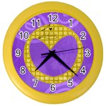 Love is in the air - CLOCK - Color Wall Clock