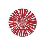 Red frames - Rubber Round Coaster (4 pack)