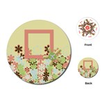 Spring Blossom Circle Cards 1001 - Playing Cards Single Design (Round)