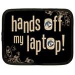 Hands off! 15 inch laptop netbook case - Netbook Case (XXL)