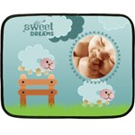 Sweet dreams BLUE - BLANKET - Fleece Blanket (Mini)